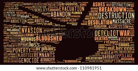 War image: text graphics - stock photo