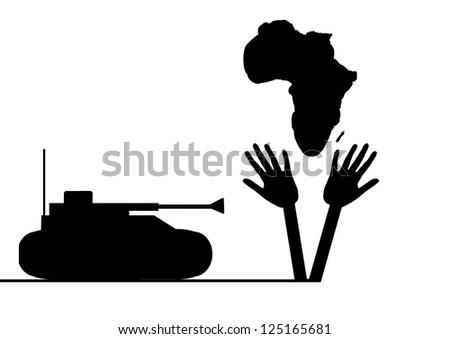 War in Algeria - stock photo
