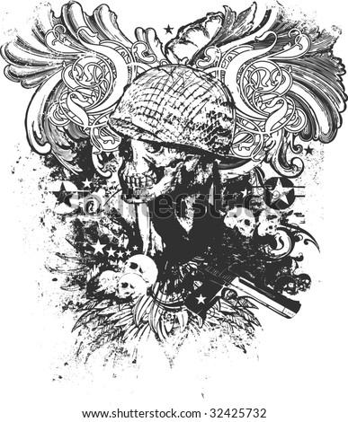War Is Hell Illustration - stock photo