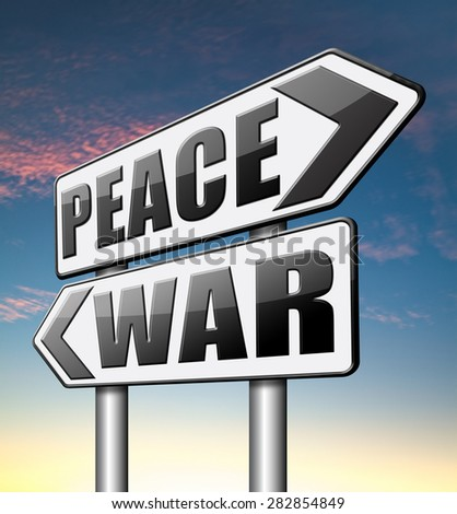 war peace love no conflict or terrorism   - stock photo