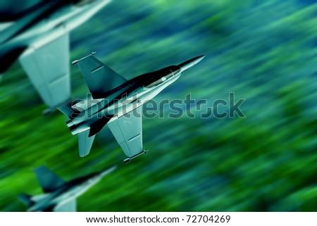 War planes - stock photo