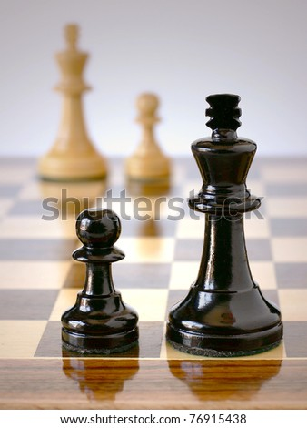 War sons on chess - stock photo