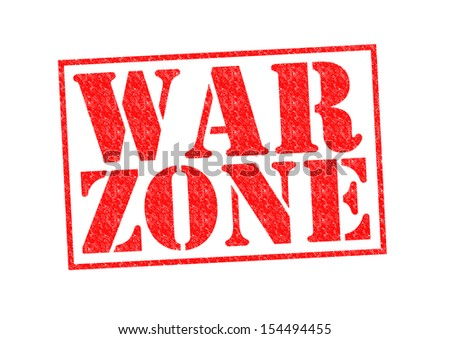 WAR ZONE Rubber Stamp over a white background.