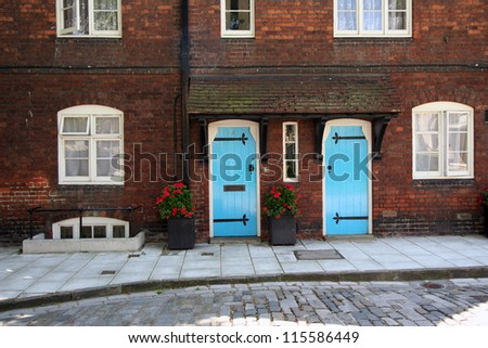 Wardens' Houses, Tower of London - stock photo