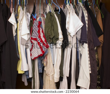 wardrobe - stock photo