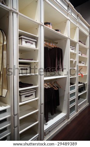 Wardrobe for clothes - stock photo