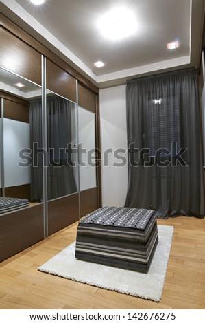 wardrobe interior - stock photo