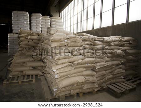warehouse - stock photo
