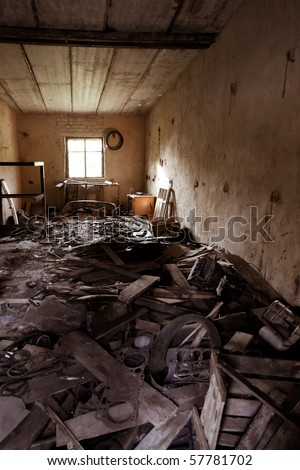 Warehouse and destruction facilities - stock photo