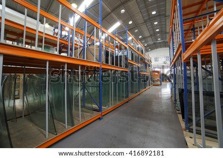 warehouse deposit - stock photo