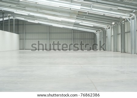 Warehouse empty - stock photo