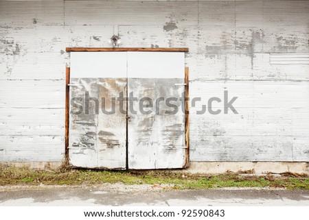 warehouse entrance background - stock photo