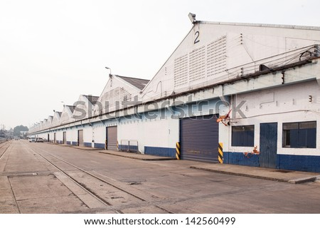 Warehouse Godown of Wood - stock photo