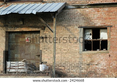 warehouse loading dock - stock photo