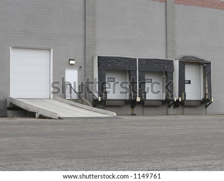 Warehouse Loading Dock or Shipping Facility - stock photo