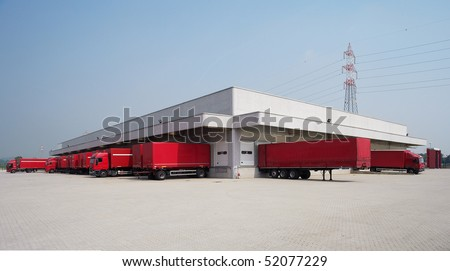 warehouse outdoor - stock photo