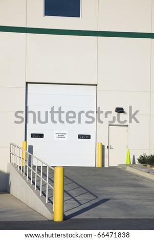 Warehouse - Ramp for semi trucks - stock photo