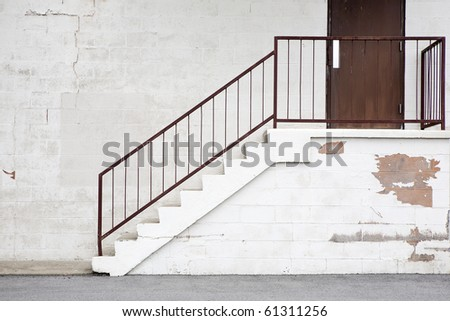 warehouse stairs/steps - stock photo