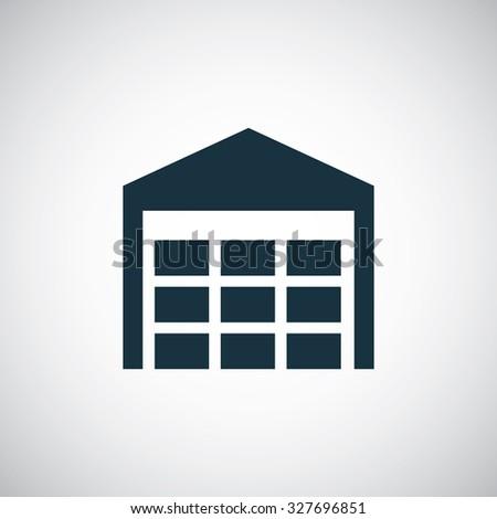 warehouse stock icon, on white background - stock photo
