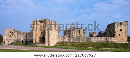 Warkworth castle a popular tourist attraction in Northumberland