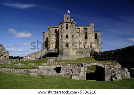 Warkworth castle in North Northumberland England