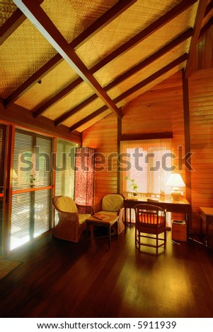 Warm and cozy cabin suite, Malay style