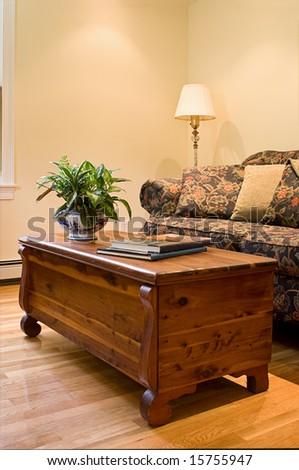 Warm And Inviting Home Interior - stock photo