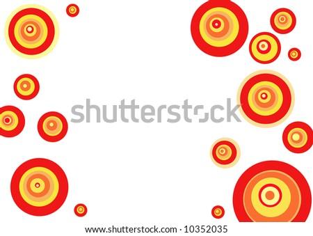 warm circle design - stock photo