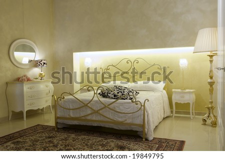 warm classical bedroom