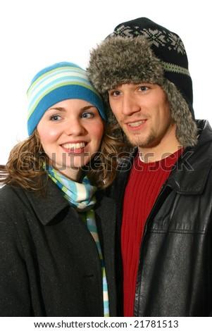 Warm Couple - stock photo