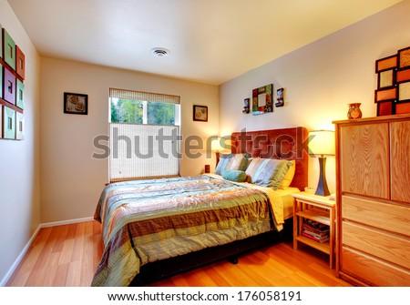 Warm cozy bedroom - stock photo
