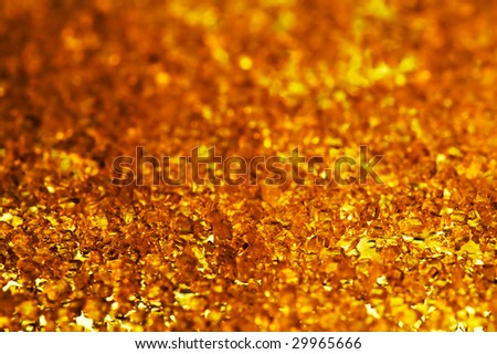 warm crystal background with selective focus - stock photo