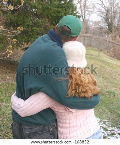 Warm embrace. - stock photo