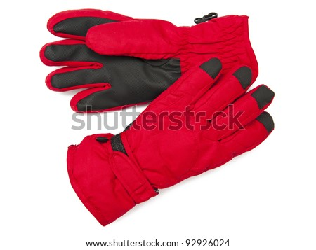 Warm gloves - stock photo