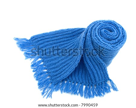 Warm knitted scarf - stock photo