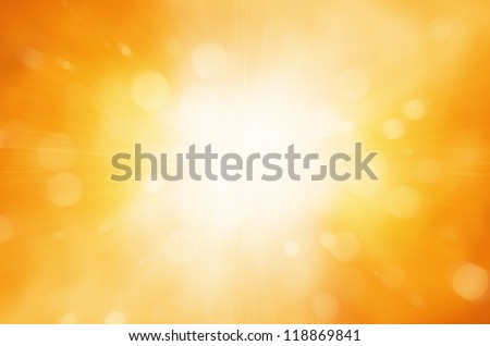warm sun and circles background - stock photo