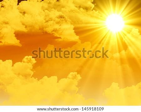 Warm sun rays - stock photo
