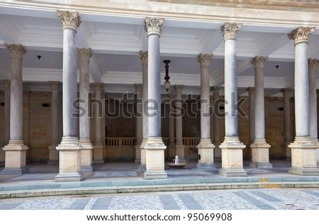 warm-water mineral spring  ? 8, named Prince Vaclav. Karlovy Vary - stock photo