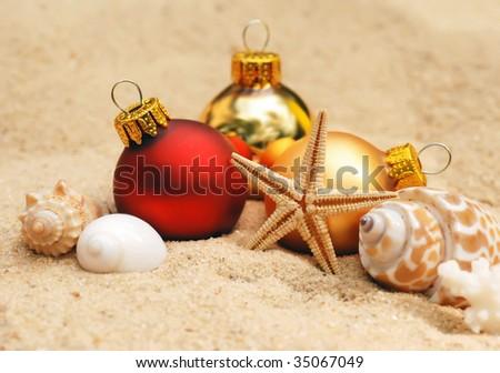 warm weather Christmas - stock photo