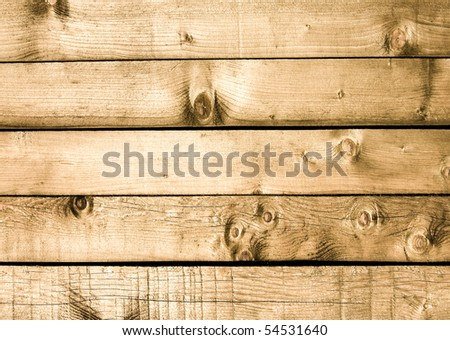 warm wooden wall texture - stock photo
