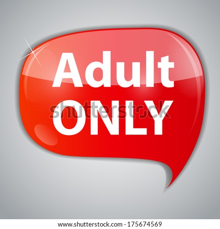 Warning Adult Only for xxx concept  Illustration - stock photo