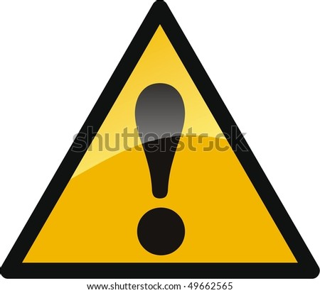warning attention sign isolated