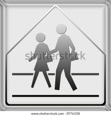 Warning / danger road signs in vector form