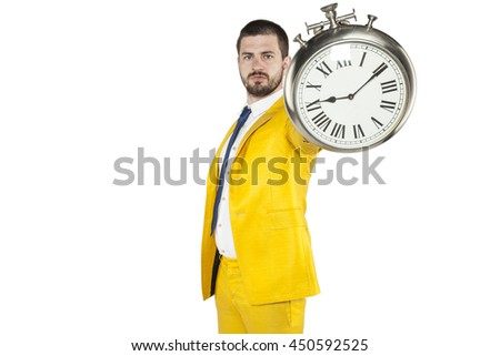 warning from a businessman for being late to work