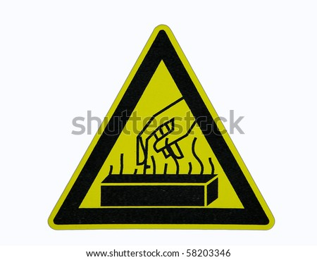 warning heat sign - stock photo