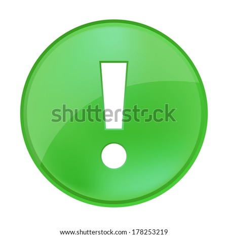 warning icon - stock photo