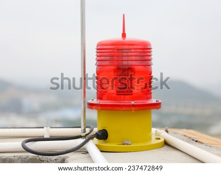 warning light - stock photo