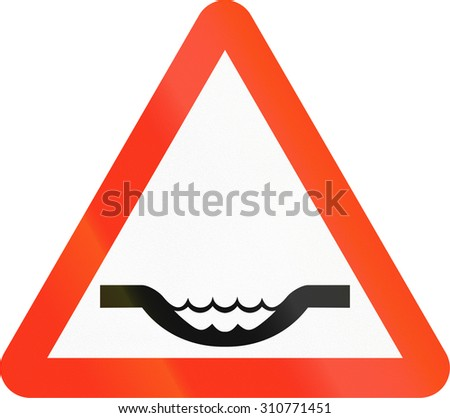 road sign warning toothless people red stock vector 513418168