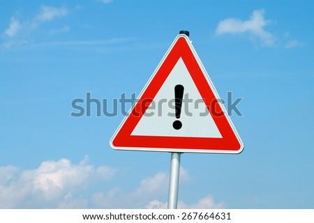 warning sign - stock photo
