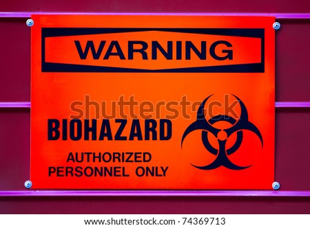 Warning sign, BIOHAZARD